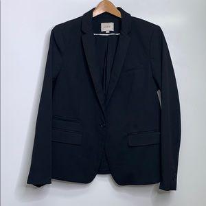 LOFT • One Button Career Black Suit Jacket Blazer
